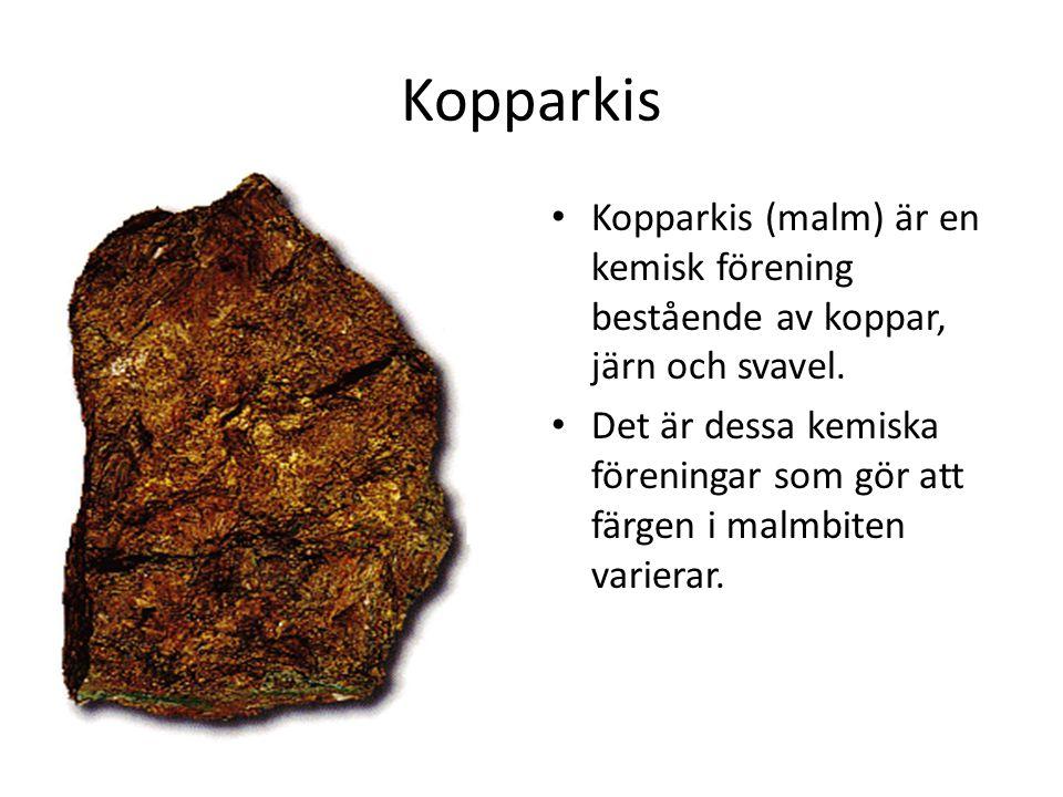 Kopparkis Kopparkis (malm) är en kemisk förening bestående av koppar, järn och svavel.