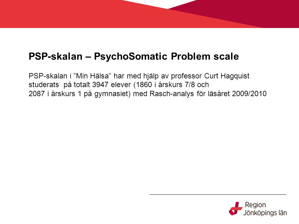 PSP-skalan – PsychoSomatic Problem scale