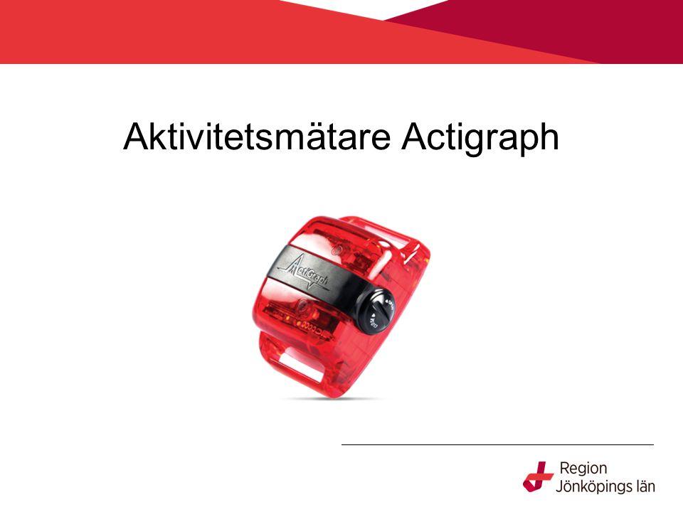 Aktivitetsmätare Actigraph