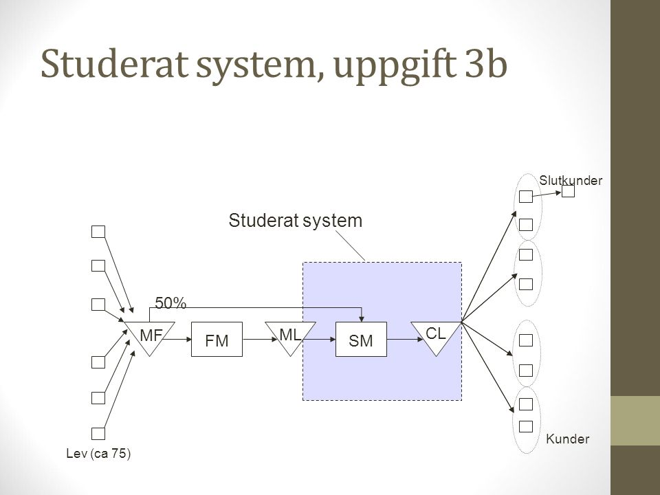 Studerat system, uppgift 3b
