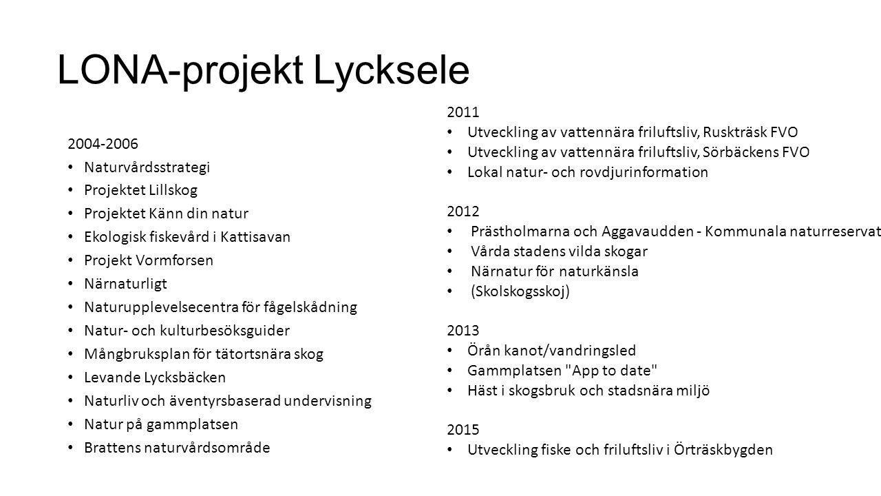 LONA-projekt Lycksele
