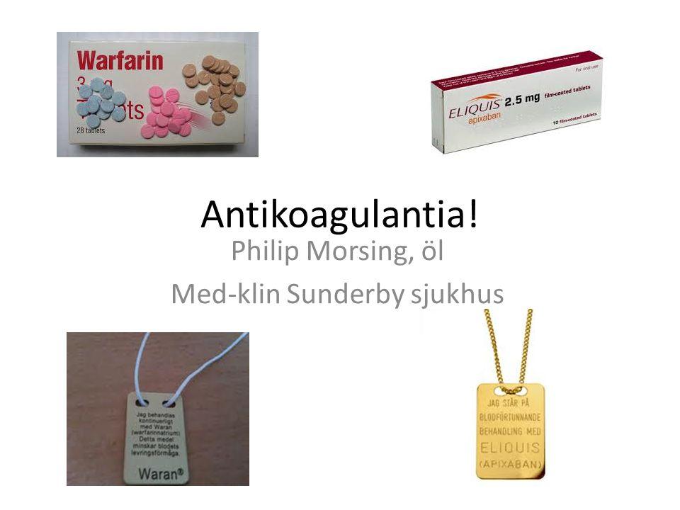 Philip Morsing, öl Med-klin Sunderby sjukhus