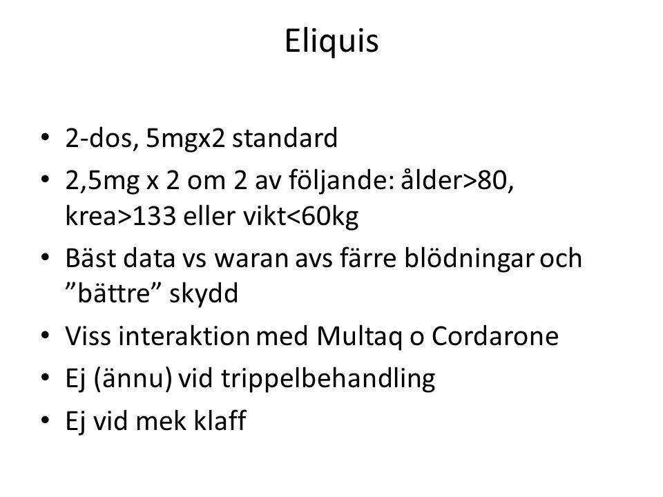Eliquis 2-dos, 5mgx2 standard