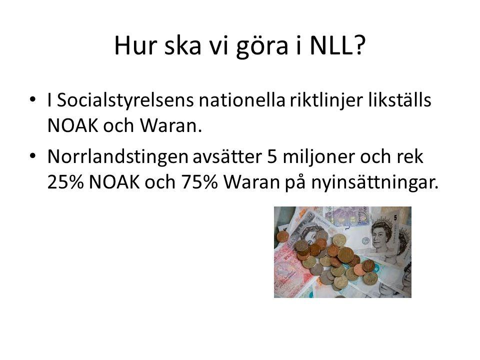 Hur ska vi göra i NLL I Socialstyrelsens nationella riktlinjer likställs NOAK och Waran.