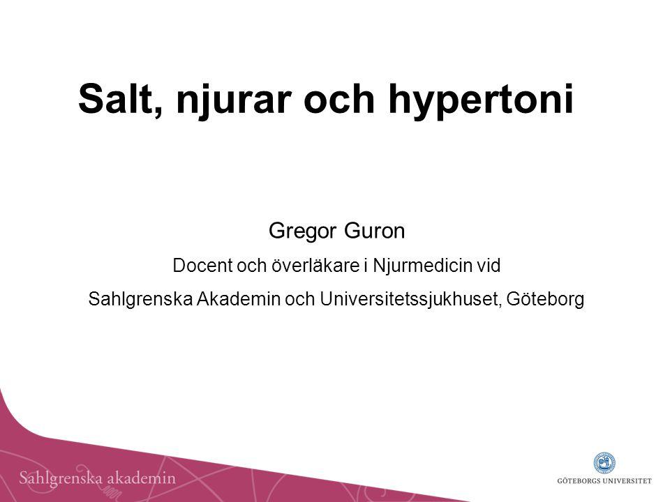 Salt, njurar och hypertoni