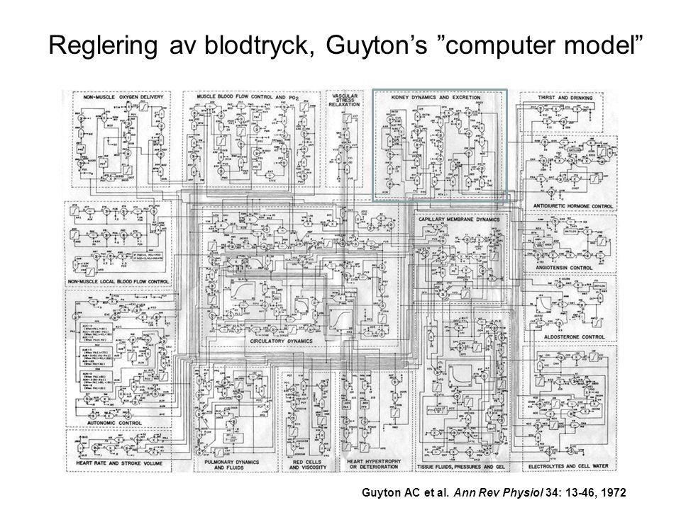 Reglering av blodtryck, Guyton's computer model
