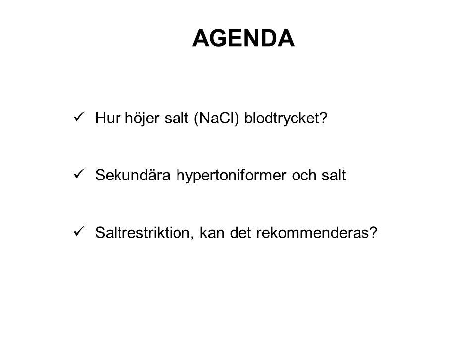 AGENDA Hur höjer salt (NaCl) blodtrycket
