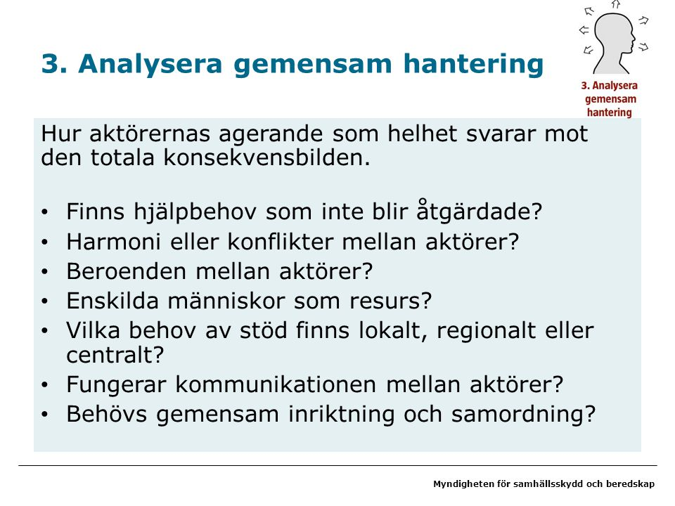 3. Analysera gemensam hantering