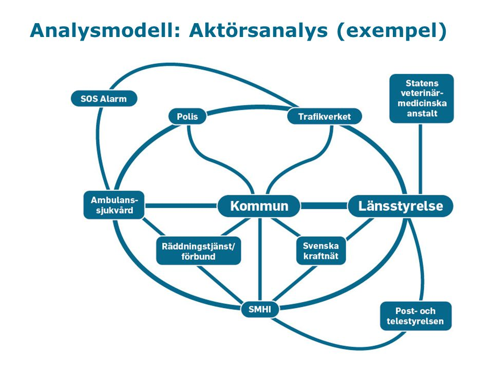 Analysmodell: Aktörsanalys (exempel)