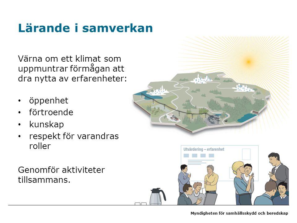 Lärande i samverkan Värna om ett klimat som uppmuntrar förmågan att dra nytta av erfarenheter: öppenhet.