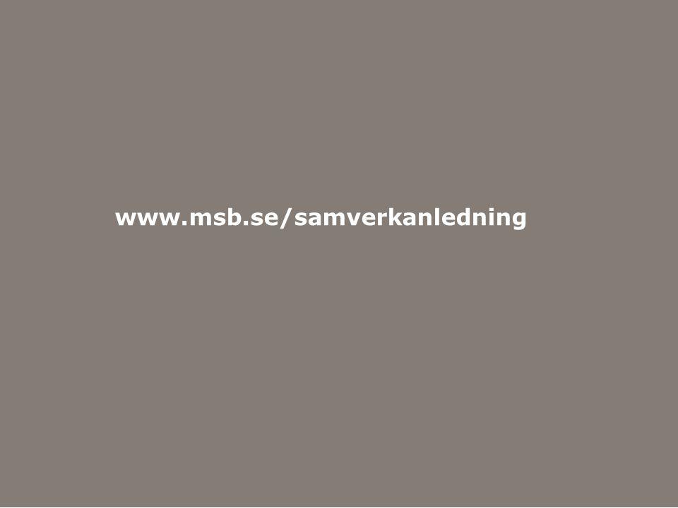 www.msb.se/samverkanledning Hitta mer information på MSB:s webbplats www.msb.se.