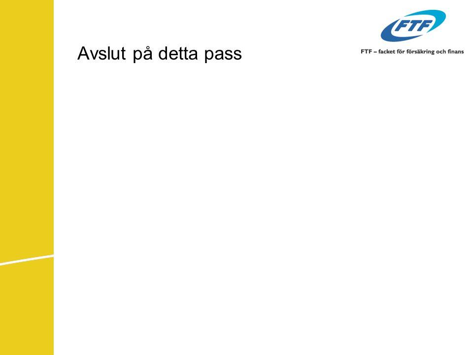 Avslut på detta pass