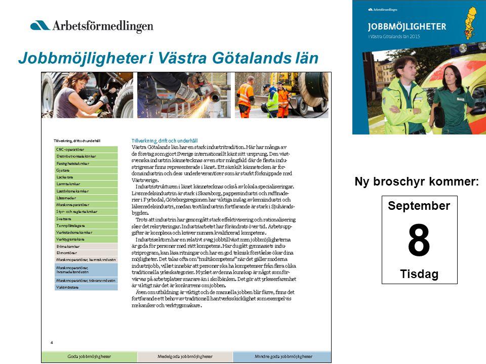 Jobbmöjligheter i Västra Götalands län