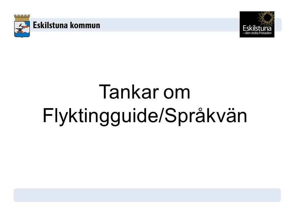 Tankar om Flyktingguide/Språkvän