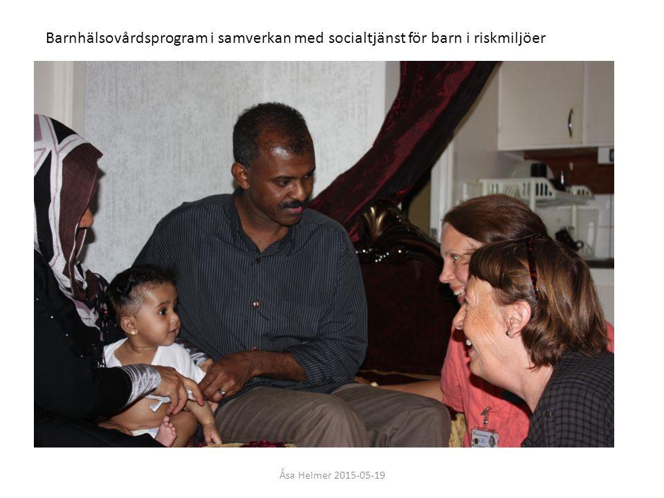 Barnhälsovårdsprogram i samverkan med socialtjänst för barn i riskmiljöer