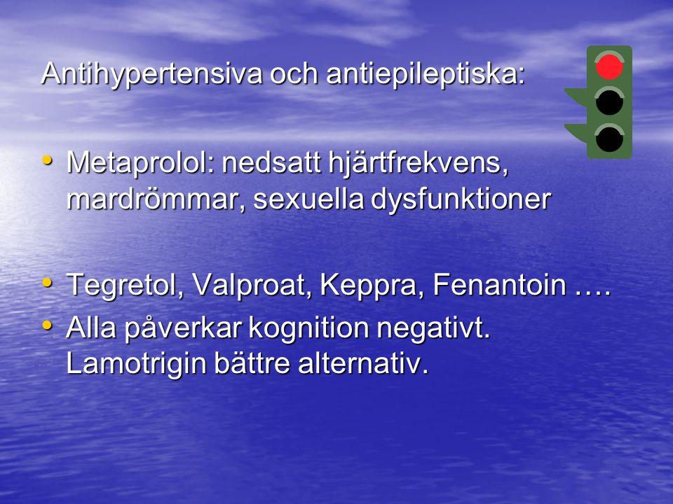 Antihypertensiva och antiepileptiska: