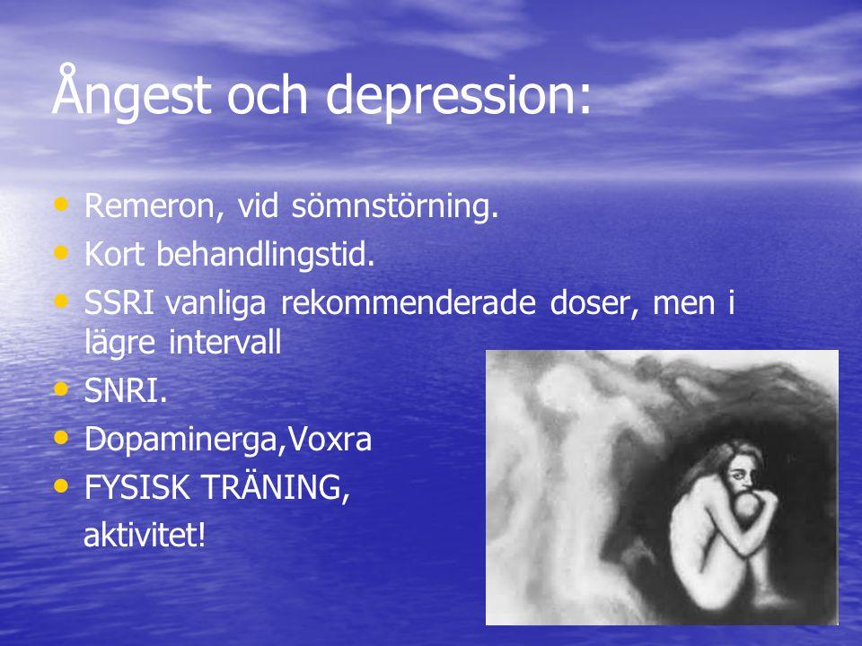 Ångest och depression: