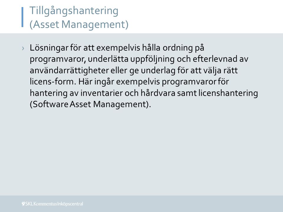 Tillgångshantering (Asset Management)