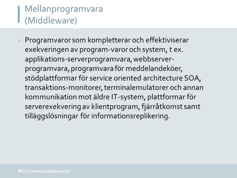 Mellanprogramvara (Middleware)