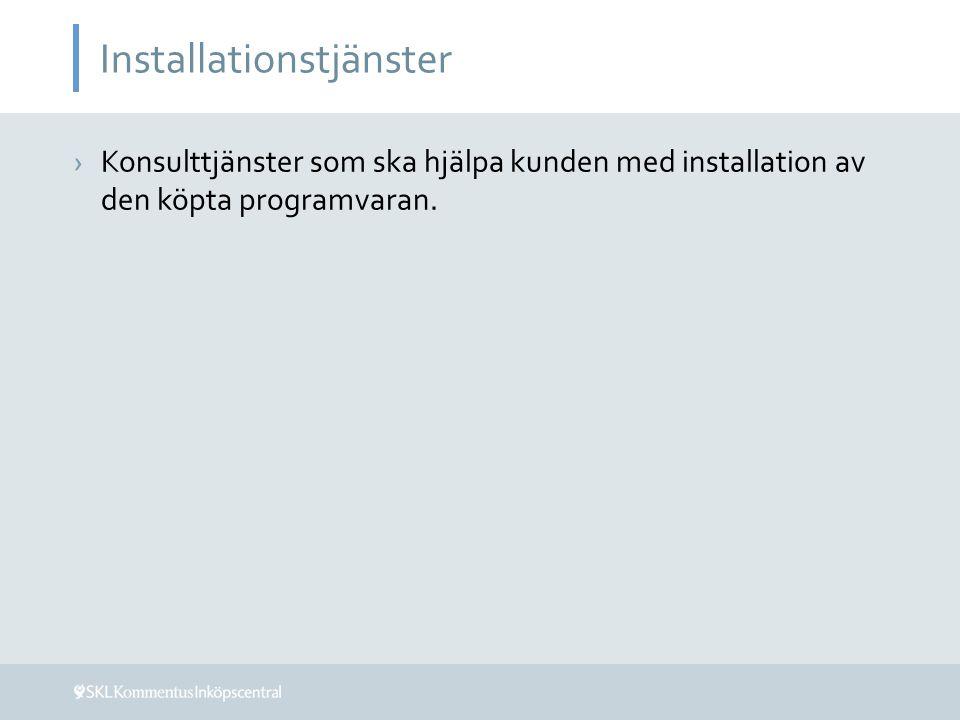 Installationstjänster