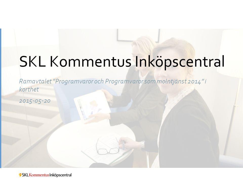 Ramavtalet Programvaror och Programvaror som molntjänst 2014 i korthet