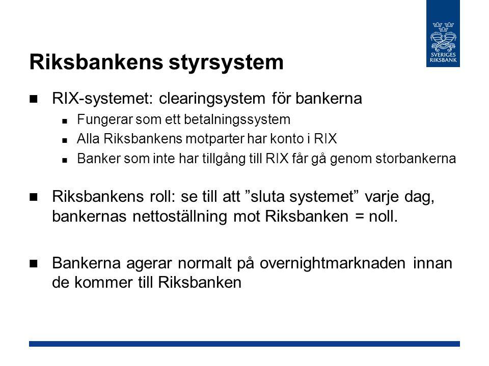 Riksbankens styrsystem