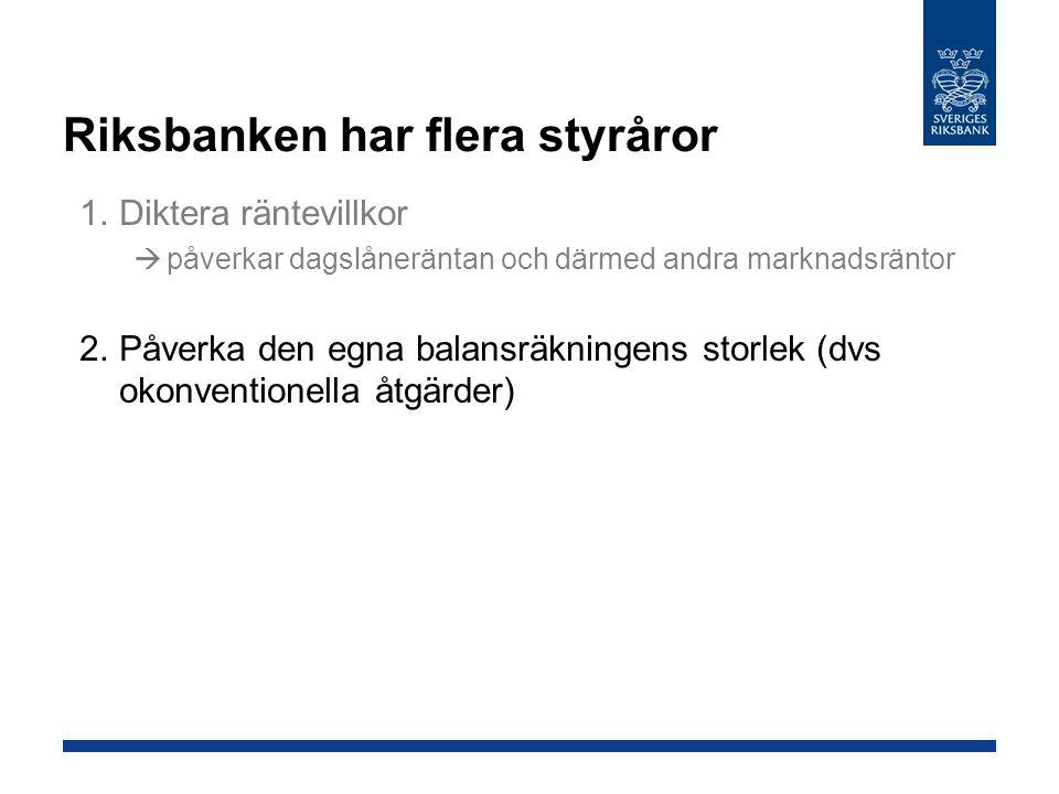 Riksbanken har flera styråror