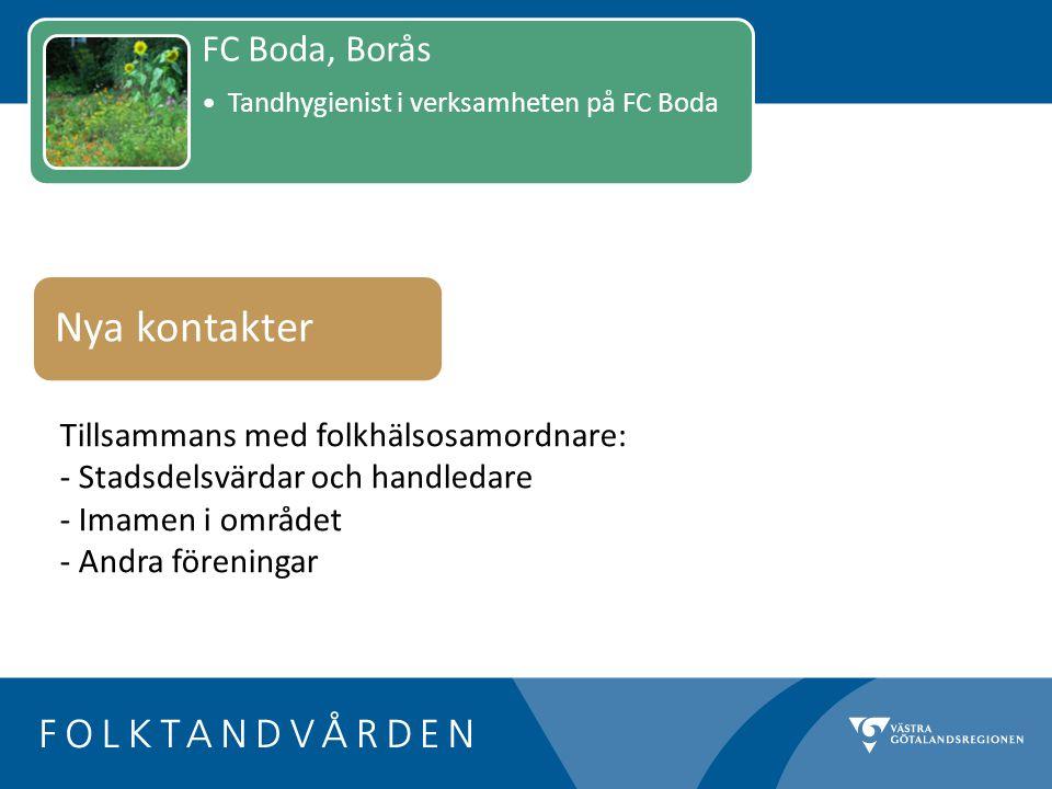 Nya kontakter FC Boda, Borås