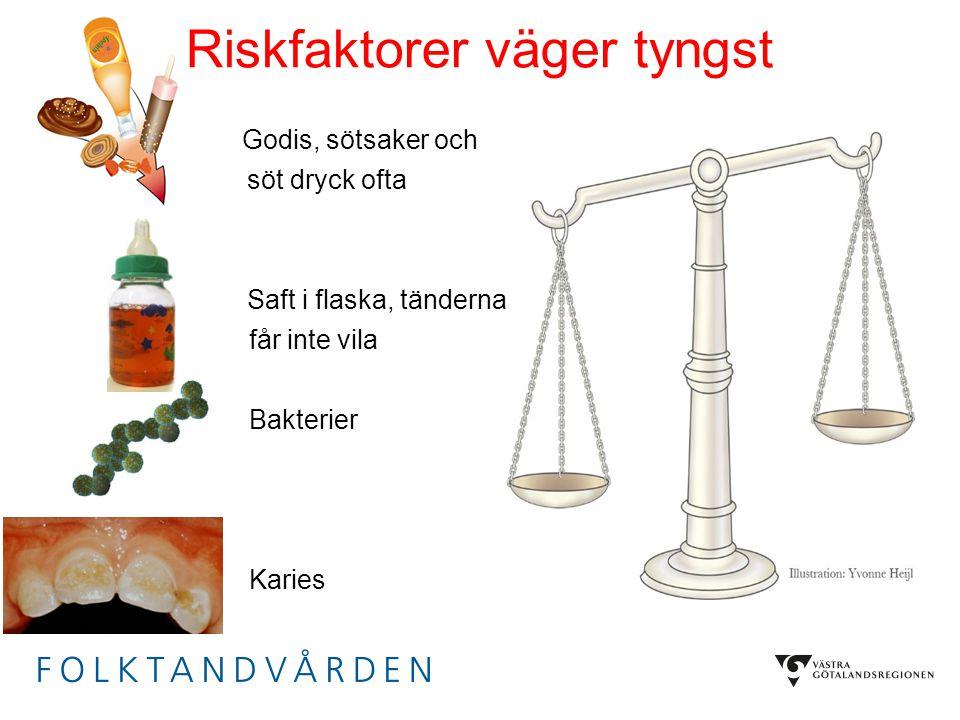 Riskfaktorer väger tyngst