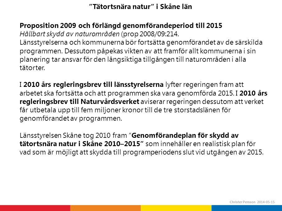 Tätortsnära natur i Skåne län