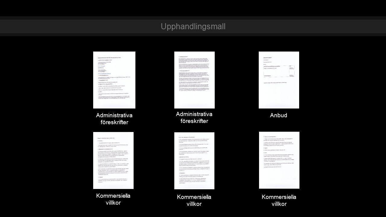 Upphandlingsmall Administrativa föreskrifter