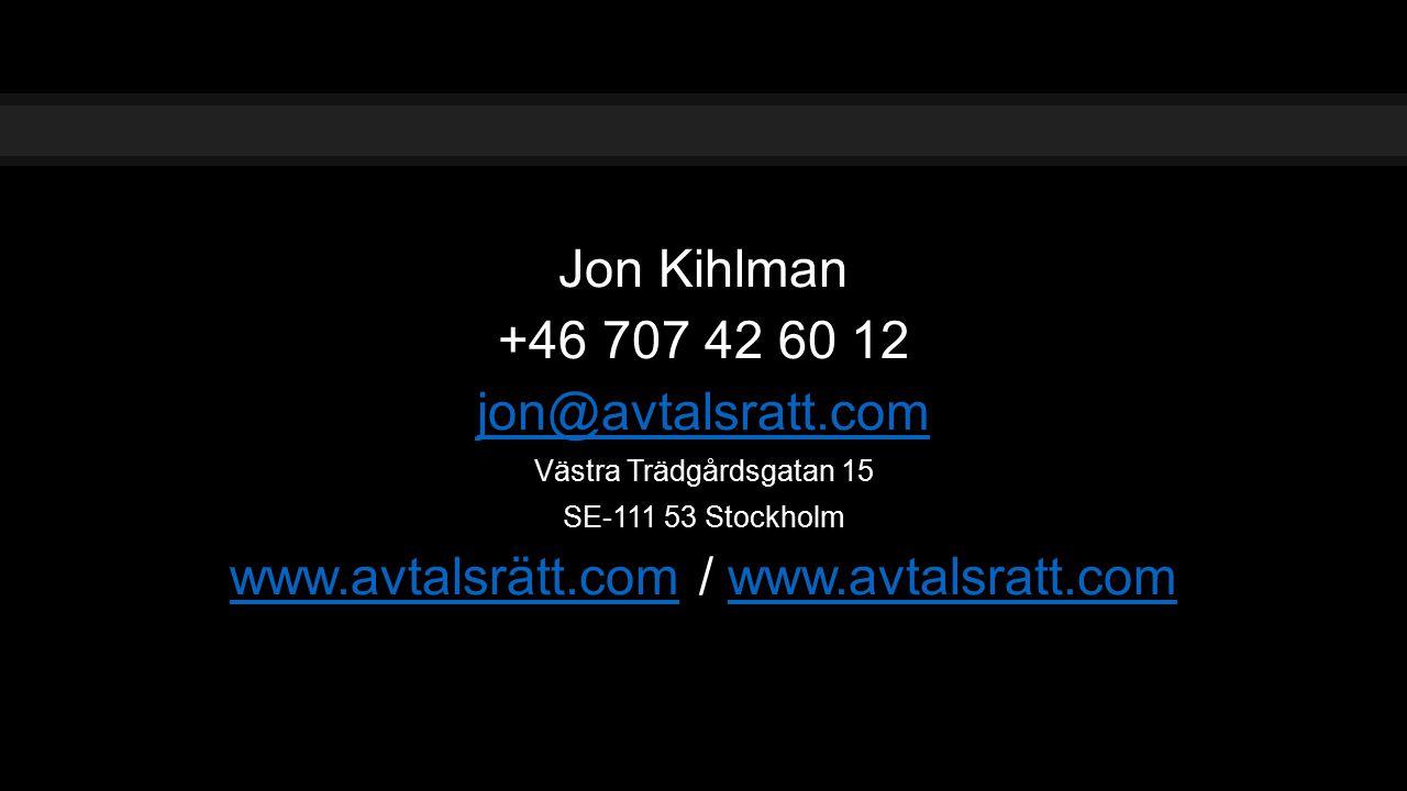 www.avtalsrätt.com / www.avtalsratt.com