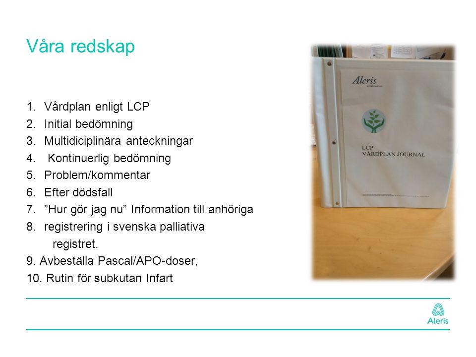 Våra redskap Vårdplan enligt LCP Initial bedömning
