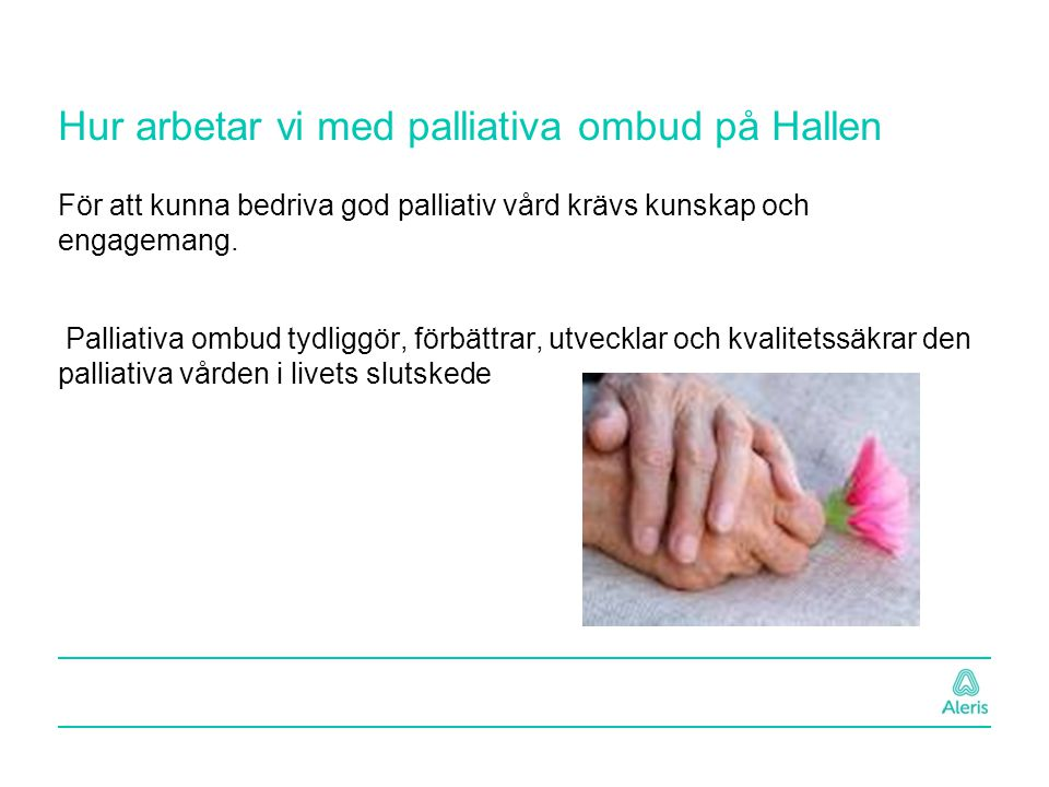 Hur arbetar vi med palliativa ombud på Hallen