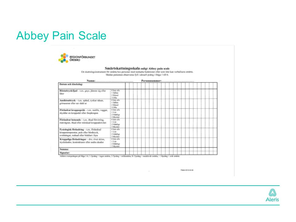 Abbey Pain Scale