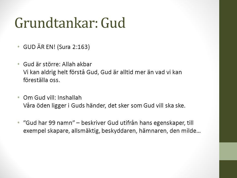 Grundtankar: Gud GUD ÄR EN! (Sura 2:163)