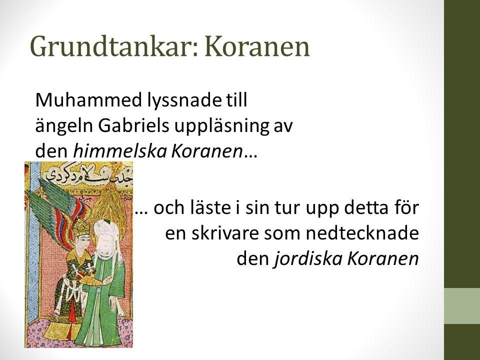 Grundtankar: Koranen