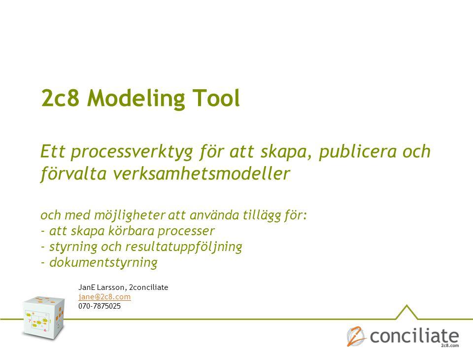 2c8 Modeling Tool Ett processverktyg för att skapa, publicera och förvalta verksamhetsmodeller