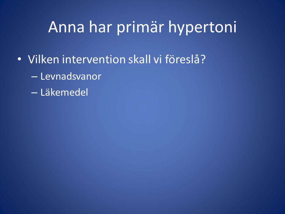 Anna har primär hypertoni