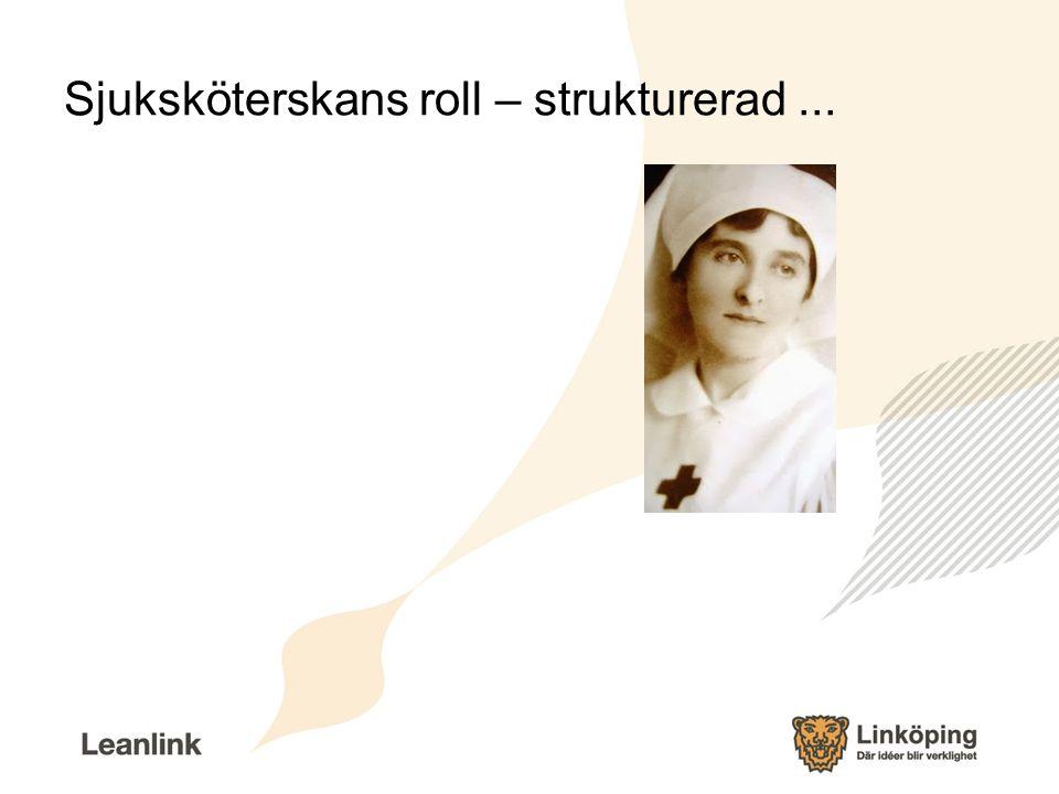 Sjuksköterskans roll – strukturerad ...