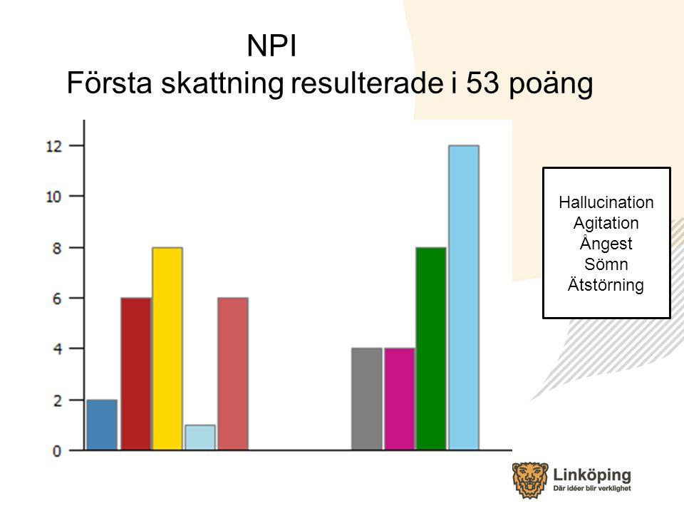 NPI Första skattning resulterade i 53 poäng