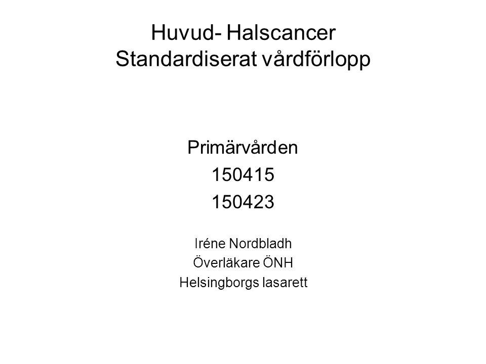Huvud- Halscancer Standardiserat vårdförlopp