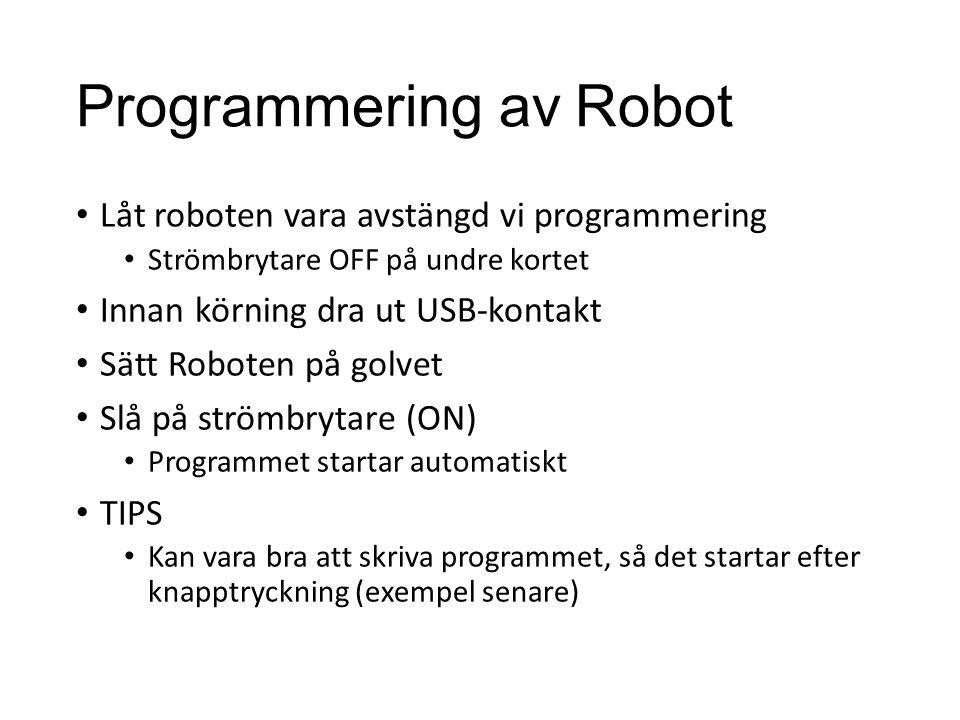 Programmering av Robot