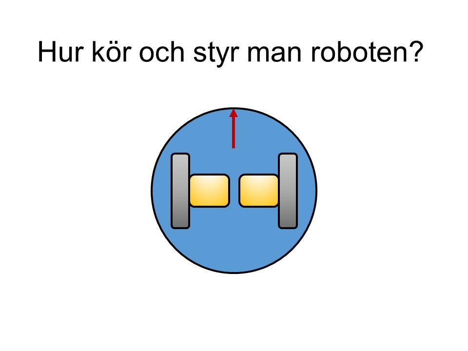 Hur kör och styr man roboten