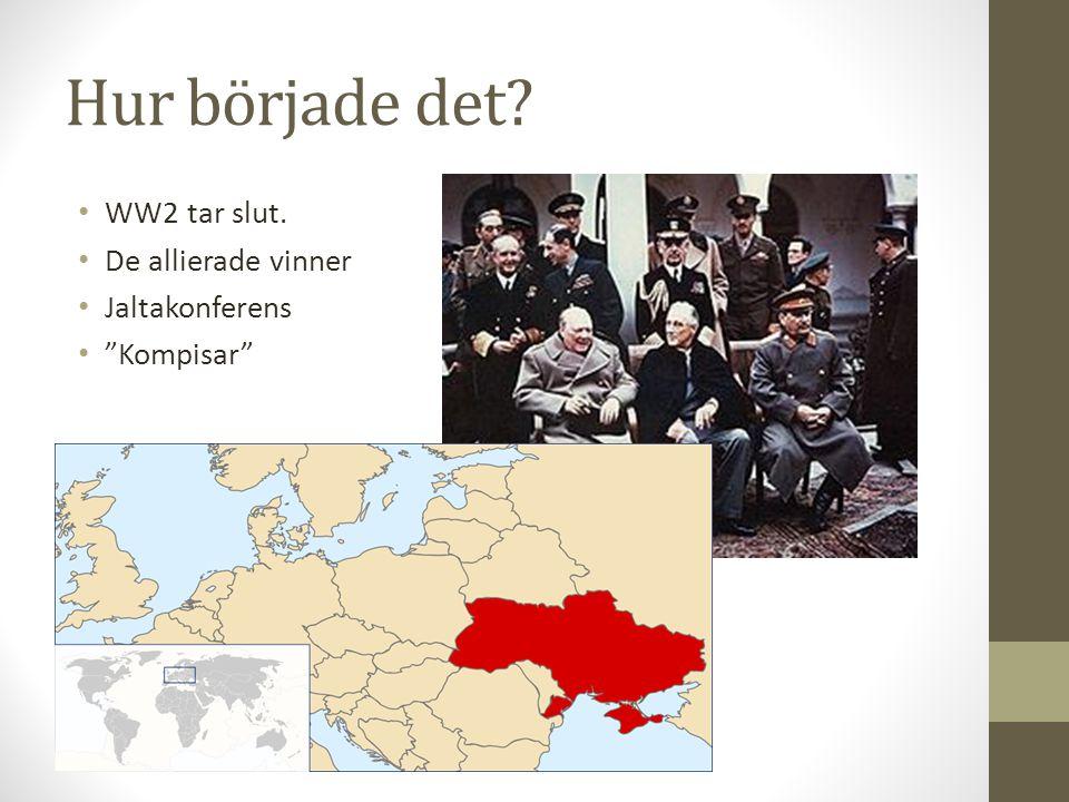 Hur började det WW2 tar slut. De allierade vinner Jaltakonferens
