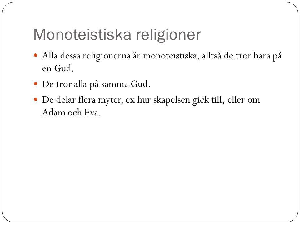 Monoteistiska religioner