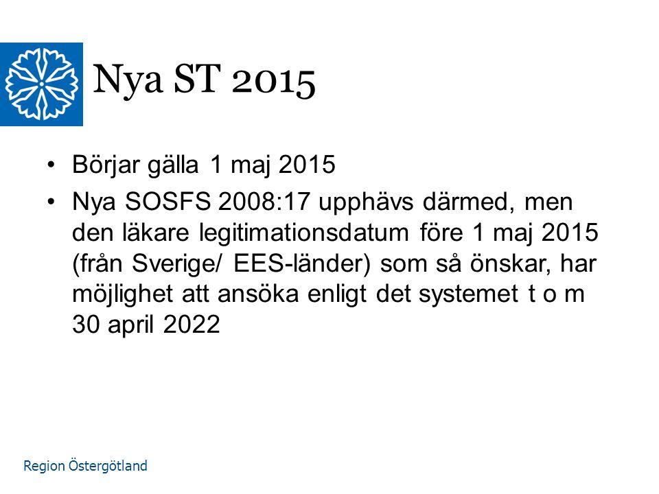 Nya ST 2015 Börjar gälla 1 maj 2015.