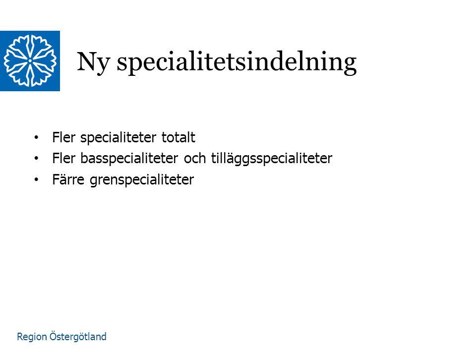 Ny specialitetsindelning