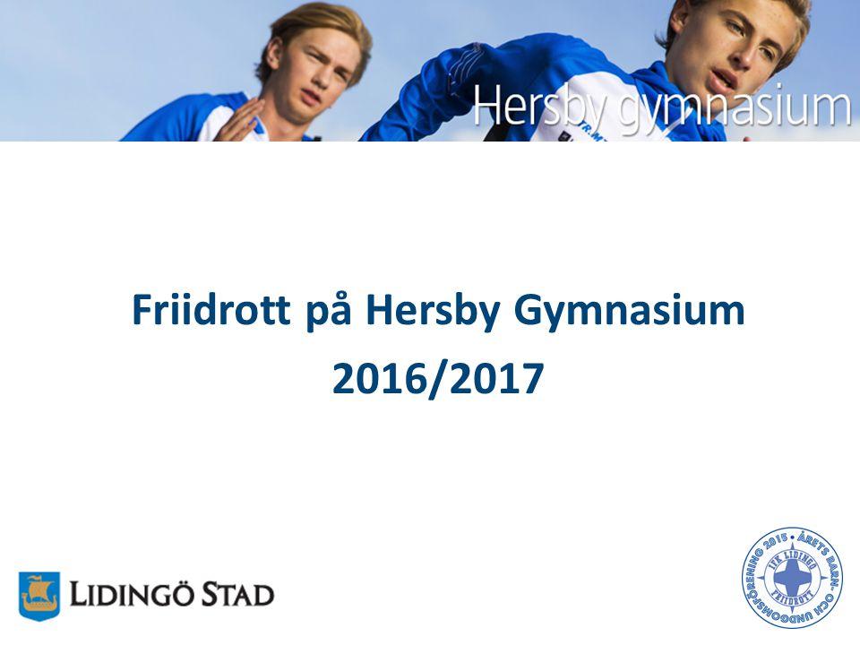 Friidrott på Hersby Gymnasium 2016/2017