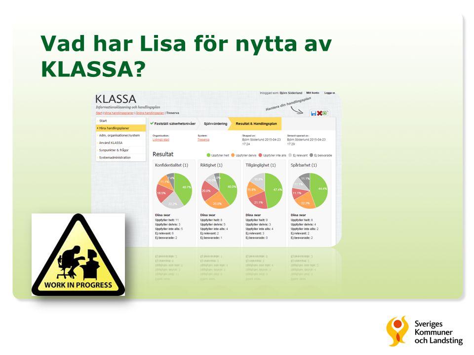 Vad har Lisa för nytta av KLASSA